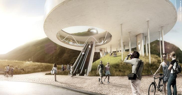 Snøhetta Teleferik İstasyonu Tasarımı ile İtalya'da