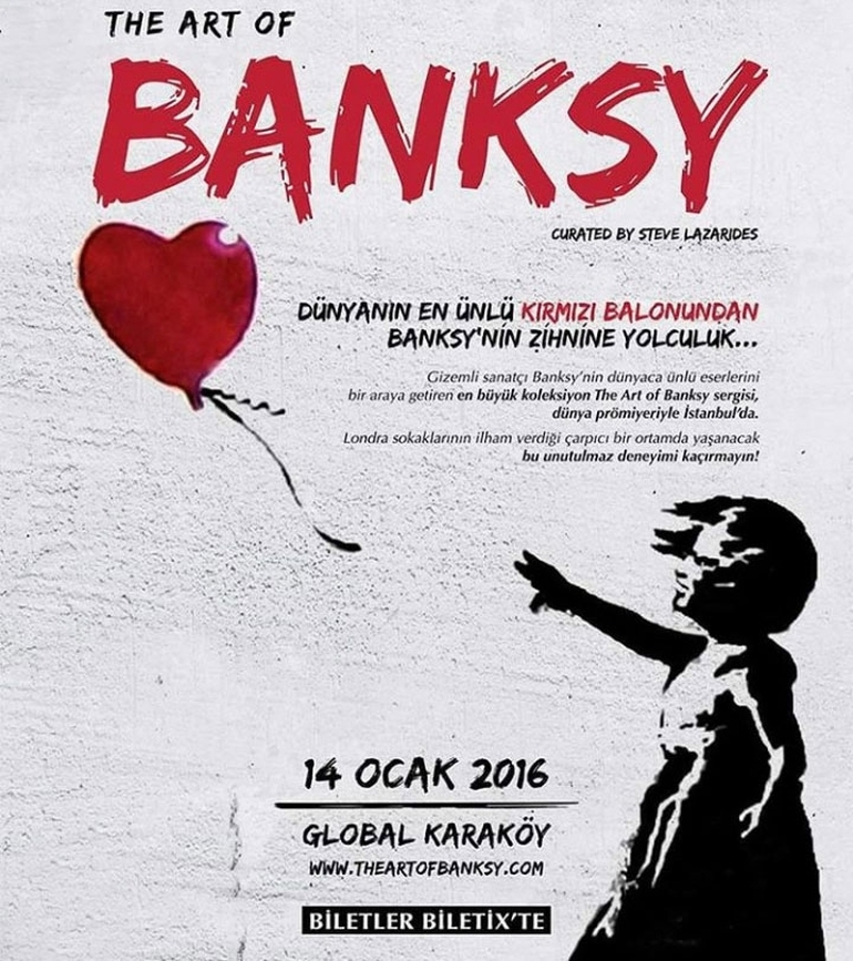 Banksy Eserleri İstanbul'da Sergilenecek