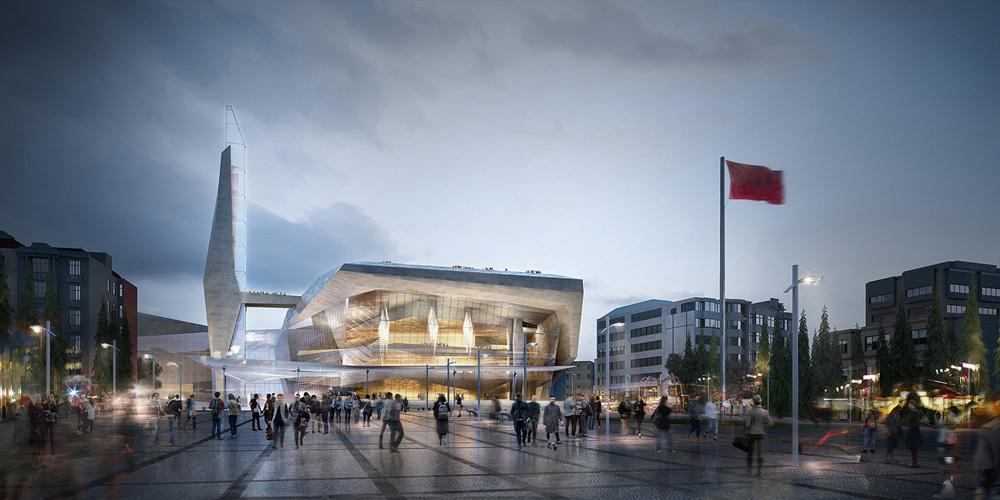 Amerikalı Ofis Adrian Smith + Gordon Gill Architecture'dan AKM'nin Yerine Proje