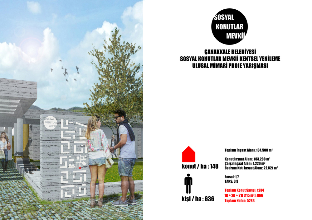 Eşdeğer Mansiyon, Çanakkale Belediyesi Sosyal Konutlar Mevkii Kentsel Yenileme Ulusal Mimari Proje Yarışması