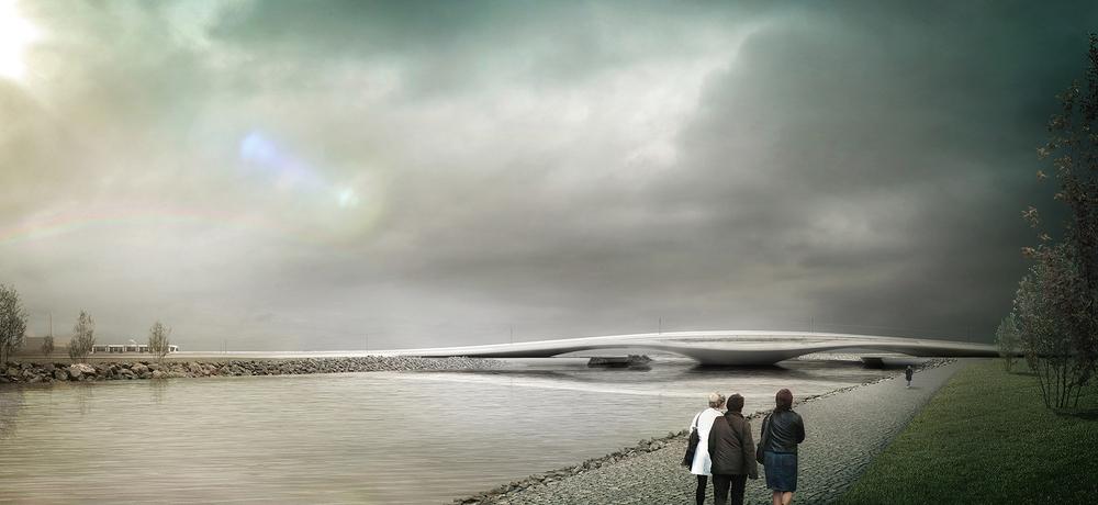 1. Mansiyon (Melike Altınışık Architects), Sivas Kızılırmak Köprüsü Yarışması
