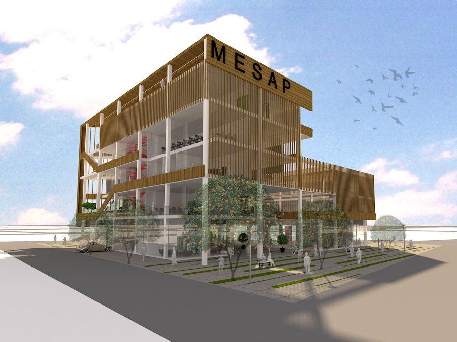 1. Ödül, Mersin Sağlık Platformu (MESAP) Hizmet Binası Mimari Proje Yarışması