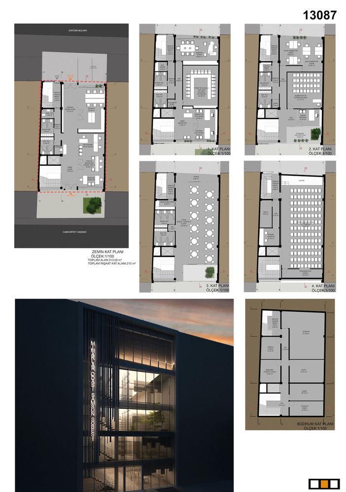 Mansiyon (eşdeğer 1), TMMOB Mimarlar Odası Samsun Şube Hizmet Binası Mimari Tasarım Yarışması
