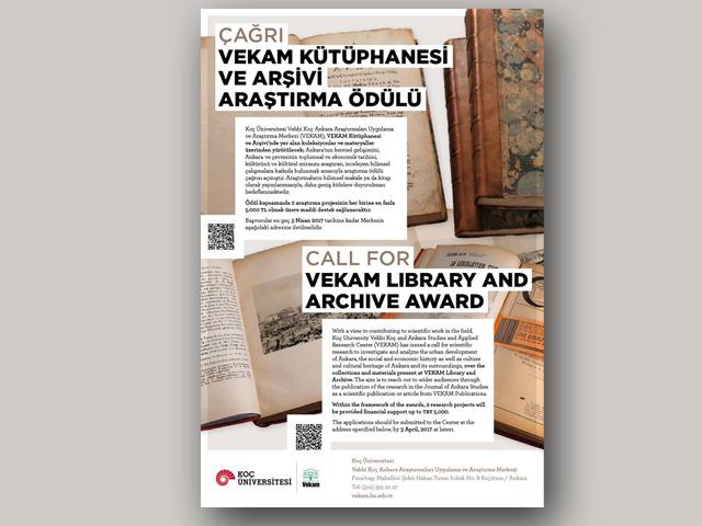 VEKAM Kütüphane ve Arşivi Araştırma Ödülü 2017