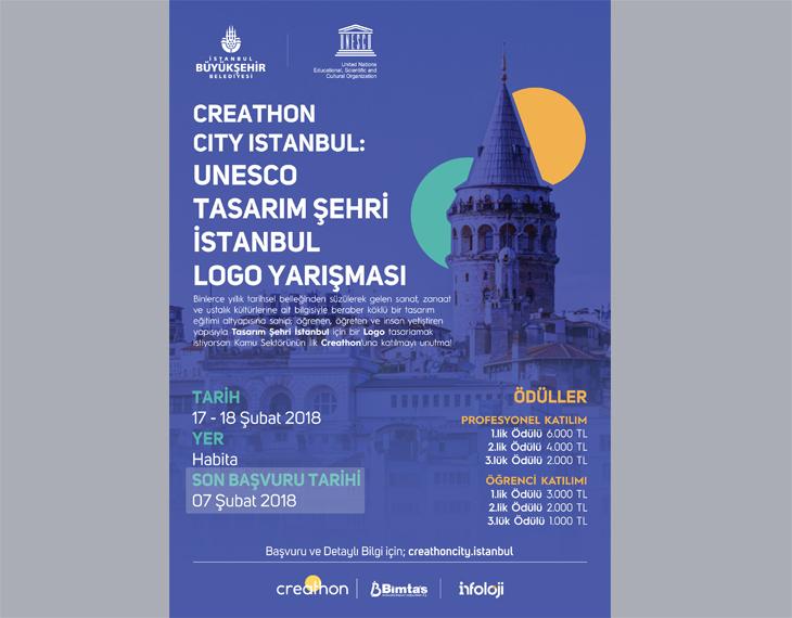 Creathon City İstanbul: UNESCO Tasarım Şehri İstanbul'un Logosunu Tasarla
