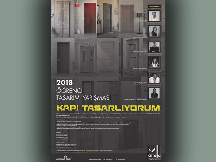 """""""Kapı Tasarlıyorum"""" 2018 Öğrenci Tasarım Yarışması"""