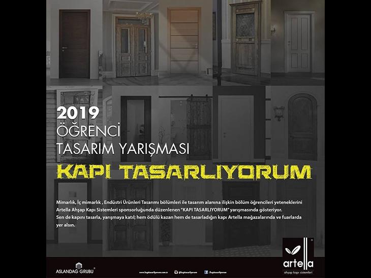 """""""Kapı Tasarlıyorum"""" 2019 Öğrenci Tasarım Yarışması"""