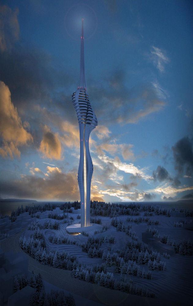 3. Ödül, Çamlıca Tepesi TV Radyo Kulesi Fikir Projesi Yarışması