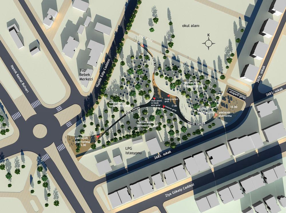 3. Mansiyon, Antalya Kepez Belediyesi Kongre ve Sergi Merkezi Ulusal Mimari Proje Yarışması
