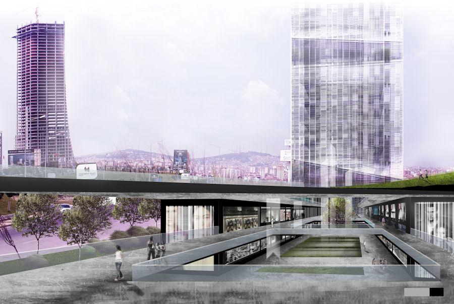 """3. Mansiyon, Saray Alüminyum """"Yükselen Yetenekler"""" Yarışması: Ataşehir - İstanbul Finans Merkezi Mimari Fikir Projesi Öğrenci Yarışması"""