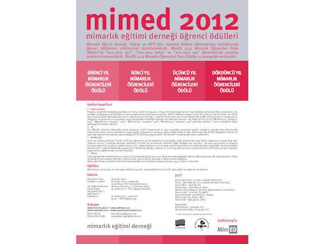 MimED 2012 Mimarlık Öğrencileri Proje Ödülleri