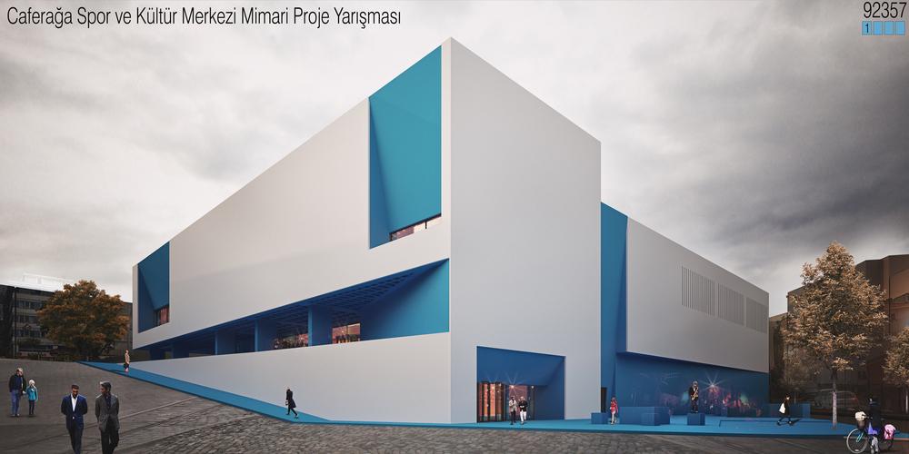 Katılımcı (OfficePAN + NODE Architects), Caferağa Spor ve Kültür Merkezi Mimari Proje Yarışması