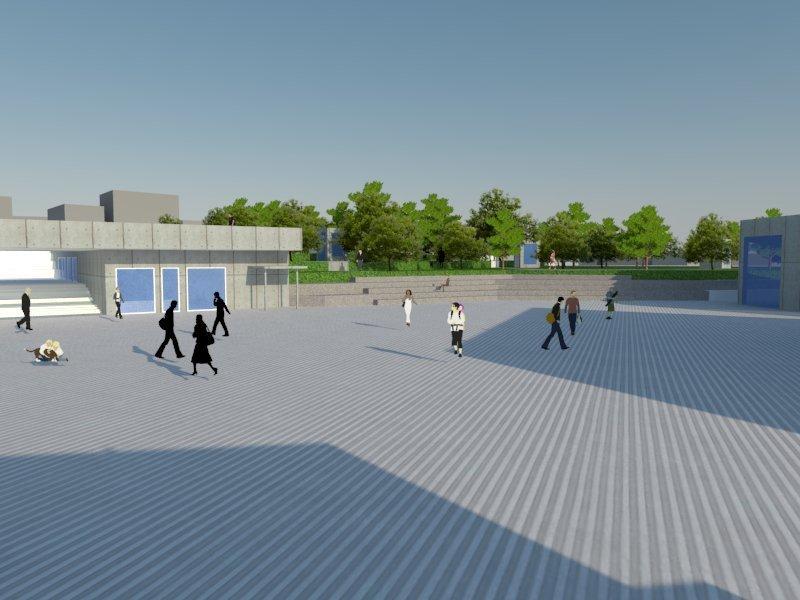 Uçhisar Meydan, Belediye ve Kütüphane Tasarımı