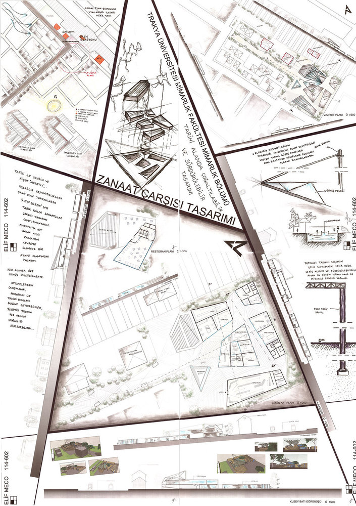 Tarihi Alanda Çoğaltılabilir ve Sürdürebilir Tasarım - Zanaat Çarşısı Tasarımı