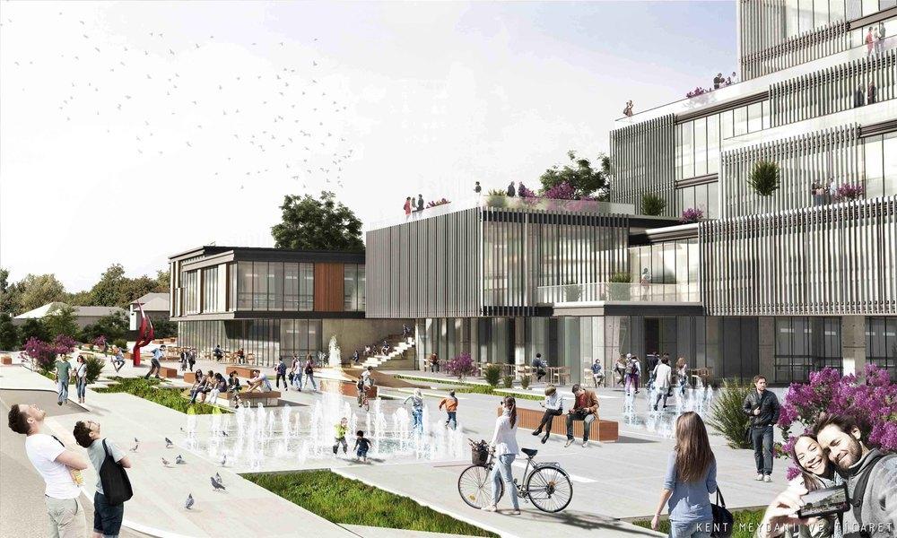 1. Ödül (DODOFİS - Mekan Mimarlık), Süleymanpaşa Belediye Hizmet Binası Mimari Proje Yarışması