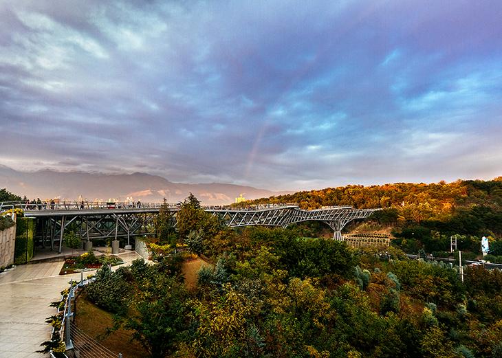 """Tahran'ın """"Tabiat Köprüsü"""""""
