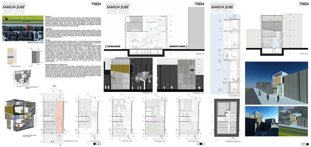 3. Ödül, TMMOB Mimarlar Odası Samsun Şube Hizmet Binası Mimari Tasarım Yarışması