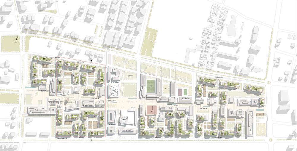 1. Ödül, Akdeniz Bölgesi (Hatay), 7 İklim 7 Bölge - Mahalle Ulusal Mimari ve Kentsel Tasarım Fikir Yarışması