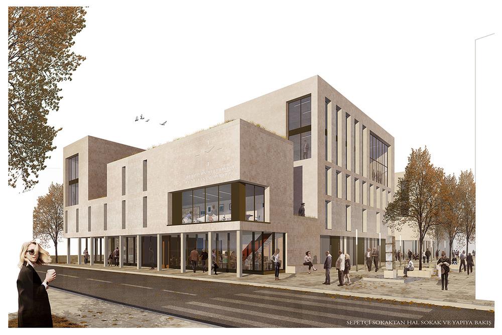 1. Ödül, Merzifon Belediyesi İş ve Yaşam Merkezi Mimari Proje Yarışması