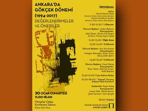 Ankara'da Gökçek Dönemi: (1994-2017) Değerlendirmeler ve Öneriler Sempozyumu