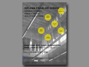 Mimar Sinan Güzel Sanatlar Üniversitesi, Mimarlık Bölümü Diploma Projeleri Sergisi