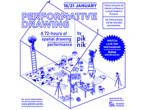 Performative Drawing by Piknik