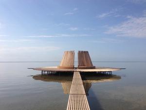 Hollanda'da Yüzer Seyir Platformu