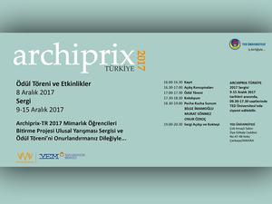 Archiprix - TR 2017 Mimarlık Öğrencileri Bitirme Projesi Ulusal Yarışması Sonuçları Belli Oldu