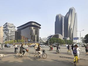 Mürekkep Çizimini Anımsatan Yapı Kompleksi 'Chaoyang Park Plaza'