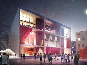 BIG'in Tasarladığı Yeni Tiyatro Binası Formu ve Çatı Katındaki Amfi Tiyatro ile Dikkat Çekiyor