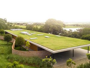 Çatısı Çimle Kaplı Düzlemsel Bir Ev