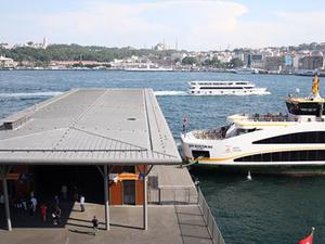 """Karaköy'de """"Akıllı Yüzer İskele"""" Hizmete Girdi"""