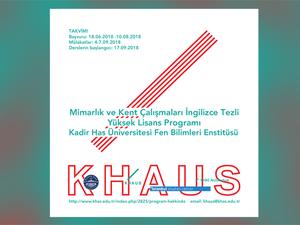 Kadir Has Üniversitesi, Mimarlık ve Kent Çalışmaları Tezli Yüksek Lisans Programı (İngilizce)