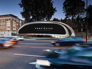 Zaha Hadid Architects'ten Heykelsi Reklam Panosu: Kensington