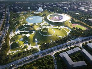 MAD Architects'ten Doğal Peyzajla Bütünleşen Spor Kampüsü