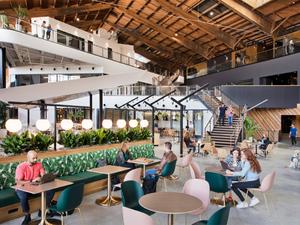Ahşap Hangar'ın İçine Google Ofisi