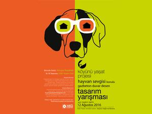 """""""Hayvan Sevgisi"""" Konulu Barınak Gazbeton Duvar Desen Tasarımı Yarışması"""
