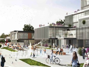 1. Ödül (DODOFİS - Yagu Mimarlık), Süleymanpaşa Belediye Hizmet Binası Mimari Proje Yarışması