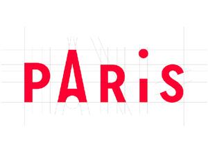 Paris İçin Minimalist Bir Tipografi Çalışması
